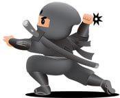 Ninja selling a loser