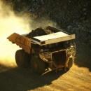 Dump truck in open-pit mine