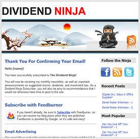Dividend Ninja Newsletter